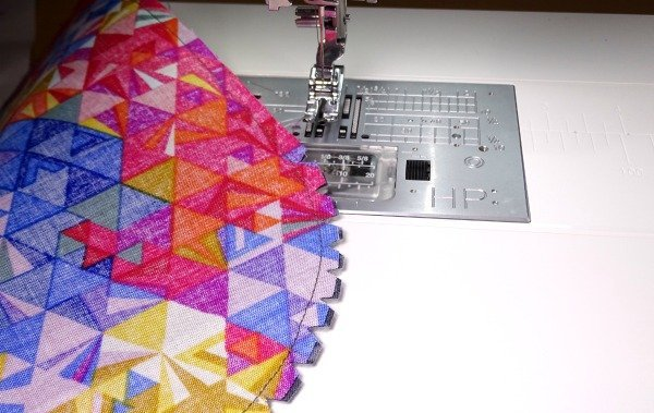 top stitch bag making